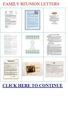 reunion programs template