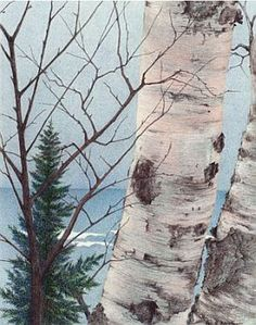 Lee Hornbrook Colored Pencil Artwork. It reminds me of Little Sand Bay on Lake Superior.