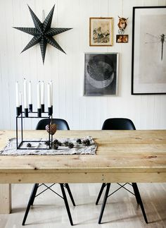 ♥ the candles and star