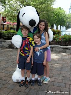 Kings Dominion's Snoopy.....taught the dog everything I could.