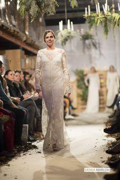 Hochzeitsmode Weiss zu Schwarz Modenschau auf der Herzschlag & Co 2015 Photo: Saskia Marloh All rights reserved