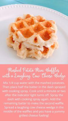 Snack Hacks, Food Hacks, Snack Recipes, Cooking Recipes, Healthy Recipes, Lean Protein Meals, Lean Meals, Mini Waffle Recipe, Medifast Recipes