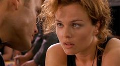 """Dina Meyer - [ as Dizzy Flores in """"Starship Troopers""""(1997). She works alot because she's a very believable actress. And she can lead me around on a leash anytime she wants. -PSC]"""