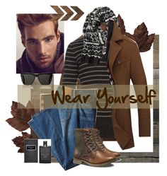"""""""Wear Yourself"""" by sahrish-hossain ❤ liked on Polyvore featuring Sebastian Professional, Vince, Burberry, Levi's, Yves Saint Laurent, Banana Republic, Jimmy Choo, Caterpillar, WALL and men's fashion"""