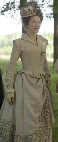 Elizabeth Golden Age Crochet- Linen natural color Riding Habit