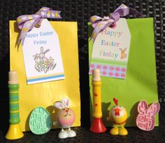 Personalised easter bags and matching cards easter pinterest easter gift bags personalised tags negle Image collections