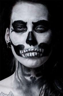 Halloween, skeleton face