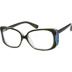 014cde1b3616 Green Rectangle Glasses  279924