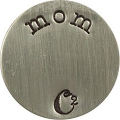 LARGE SILVER MOM / SILVER PLATES   ORIGAMI OWL CUSTOM JEWELRY   STAMPED PLATE