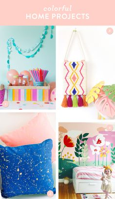 Add color to your home and try one of these DIY projects!