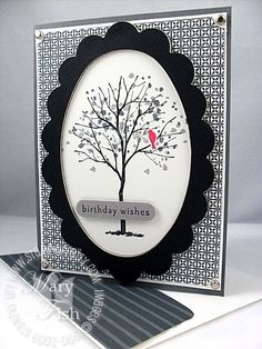 Branch Out in Black and White - Stampin' Up! Demonstrator - Mary Fish, Stampin' Pretty Blog, Stampin' Up! Card Ideas & Tutorials