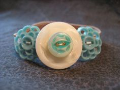 Button Jewelry  bracelet made with new and vintage by 1StarButton, $11.50