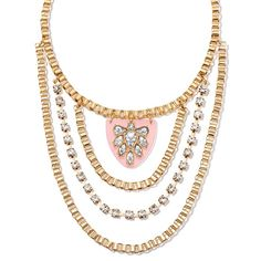 Multi-layered goldtone box chain design embellished with rhinestones. Chain that sits closest to neck has a pendant. Regularly $24.99, buy Avon Jewelry online at http://eseagren.avonrepresentative.com