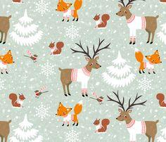 snowday fabric by gaiamarfurt on Spoonflower - custom fabric