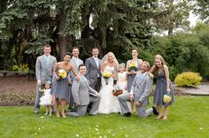 bridal parties without coordinating dresses - Google Search