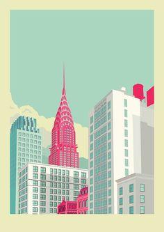 New York City illustration by Remko Heemskerk