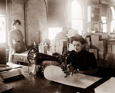 Sewing Factory - 1900  http://www.pinterest.com/pin/470063279830805889/
