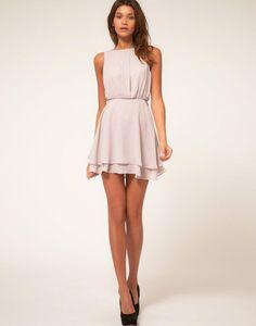 cute light pink dress with black heels...love it but wish it was a little longer..