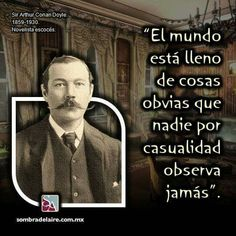 #EfemérideLiteraria En 1859 nace #ArthurConanDoyle, autor de #SherlockHolmes. #Literatura www.sombradelaire.com.mx