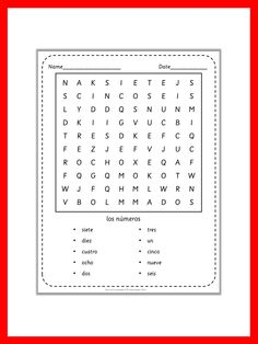 $Spanish wordsearch puzzles