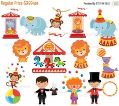 ON SALE INSTANT Download. Circus 4. Personal and by clipartland