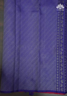 Item: Saree and unstitched blouse piece Get heads turning with this Statement Kanjeevaram Saree with magnificent peacock motifs intricately woven in gold zari with meenakari outline . The saree is borderless to emphasize these motifs with a purple-blue selvedgePallu color is in blue with grand zari weaving and pretty custom tassels.The blouse color is in blue with no zari. Pretty custom tassels complete the saree with a charming finish! While many fabrics look like silk, pure silk stands out in Kanjivaram Sarees, Silk Sarees, Color Correction, Pure Silk, Color Combinations, Outline, Purple, Pink, Turning
