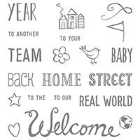 Welcome Words Photopolymer Stamp Set by Stampin' Up! http://kimskreations.stampinup.net
