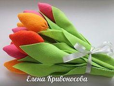 Как сшить тюльпаны из фетра - Ярмарка Мастеров - ручная работа, handmade