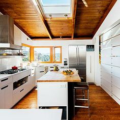 Small, light-filled kitchen