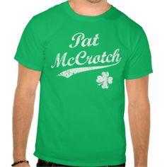 Vintage Pat McCrotch - Funny St. Patty's day t-shirt.