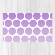 """Purple Polka Dot Rug - Floor rug - Room Rug - Bathroom Rug - Throw Rug - Polka Dots Purple - Made to Order This rug is done with Purple Polka Dots  This item is """"MADE TO ORDER""""  DESCRIPTION: Premium quality area rugs boast an exceptionally soft touch and high durability.  MATERIAL: 100% woven polyester NON-SKID PAD NOT INCLUDED  SIZES: 2 x 3 3 x 5 4 x 6  CARE: Machine washable  OTHER ITEMS: Most original art/photography available in the following:  Stationery (cards) Cases & Skins Pi..."""