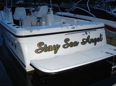 Stay Sea Angel Boat Graphic Wrap Done By Sign Pro Inc.