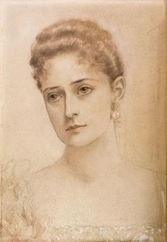 Portrait of the Empress Alexandra Feodorovna, drawn by her sister Elisabeth (Ella), in Anastasia, Zar Nikolaus Ii, House Of Romanov, Tsar Nicholas Ii, The Empress, Imperial Russia, Kaiser, Queen Victoria, Royalty