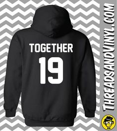 Together Since Matching Couple Hoodies (Set