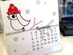 December Calendar - Savvy's little cardinal stamp!