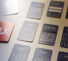 Range of UX website cards Ux Wireframe, Range, Website, Blog, Cards, Cookers, Blogging, Maps, Playing Cards