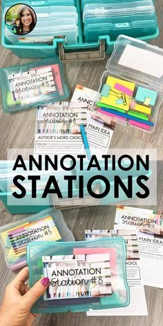 Annotation Stations for high school English Language Arts Informational Text Activities Nonfiction text stations Annotating the text Ela Classroom, High School Classroom, English Classroom, Classroom Ideas, Future Classroom, Classroom Displays Secondary English, Ela High School, High School History, School School