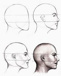 Anatomy Drawing Tutorial - How to Draw a Face : Here's a simple way to place the features accurately when drawing a head. First draw a vertical line down the middle of the face. Then draw a horizontal line halfway Drawing Techniques, Drawing Tips, Drawing Sketches, Pencil Drawings, Painting & Drawing, Art Drawings, Sketching, Drawing Drawing, Drawing Ideas