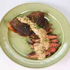 From The Chew, Clinton Kelly's sirloin steak au poivre with bourbon-mustard sauce.