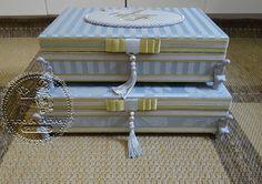 Caixas Casamento - Toaletes (0028CAS) e Kit de produtos Personalizados(0129CAS) - Julianne & Fernando(RJ) - Tudo em Caixas