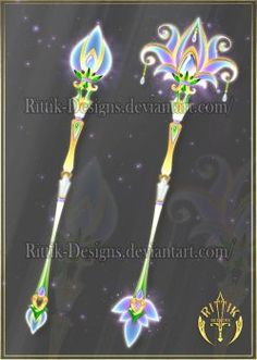 Staffs and wands by Rittik-Designs on DeviantArt