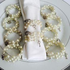Pearl Napkin Rings Elastic Pearl Napkin Rings Elastic Wedding