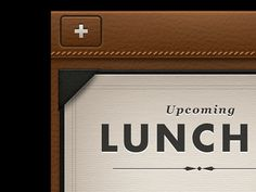 leather, classy, Lunch app