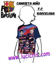 Camiseta Niño FC-BARCELONA Jugadores Oficial