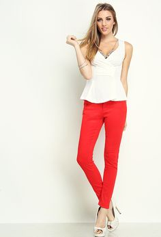 Colored Twill basic Pants