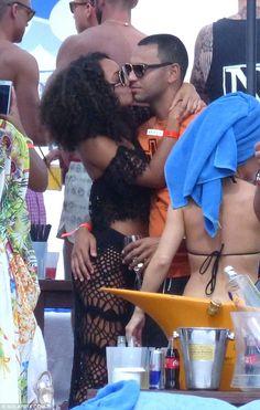 Little Mix's Leigh-Anne Pinnock kisses boyfriend Jordan Kiffin | Daily Mail Online