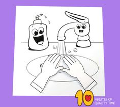 hand washing craft for toddlers