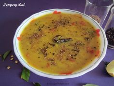 Dal with steamed rice is a comfort food any time. Peppery dal is a twist to the usual dal fry that we prepare. It is an easy to make dish and very quick to