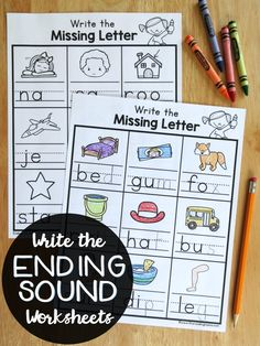 Write the Ending Sounds Worksheets {FREE} - This Reading Mama