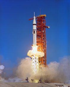 Saturn IB launch in 1973 to SkyLab.